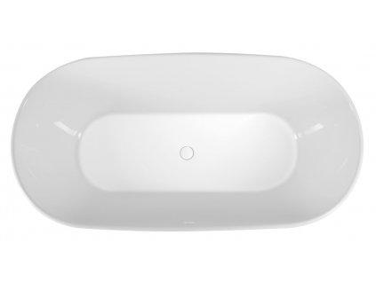 DELONIX volně stojící vana litý mramor 170x84x61,5cm, bílá