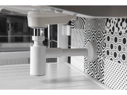 CRONO Umyvadlový sifon 1'1/4, odpad 32 mm, bílá