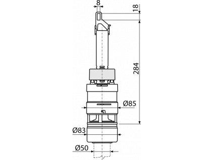 ALCA PLAST Vypouštěcí ventil pro nádržku A93 A07