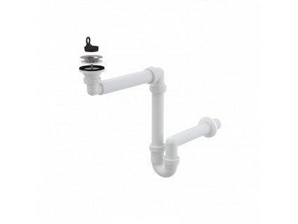 ALCA PLAST Prostorově úsporný umyvadlový sifon DN63 A413