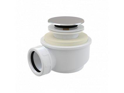 ALCA PLAST Odtoková souprava CLICK/CLACK, chrom A476