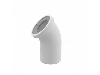 ALCA PLAST Dopojení k WC – koleno 45° A90-45