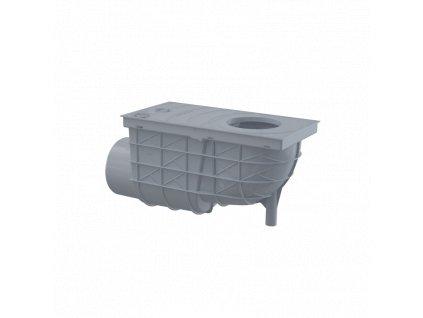 ALCA PLAST Univerzální lapač střešních splavenin 300×155/110 mm boční, šedá AGV3S