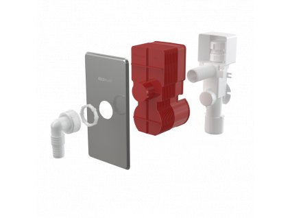ALCA PLAST Sifon pračkový podomítkový s přivzdušněním, nerez DN40 a DN50 APS3P