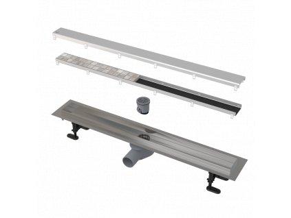 ALCA PLAST Podlahový žlab APZ13-DOUBLE9-550