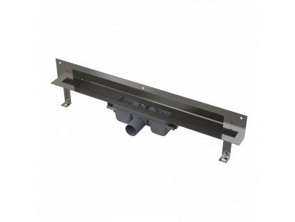 ALCA PLAST Odtokový systém pro zabudování do stěny, kryt nerez-lesk APZ5-EDEN-750