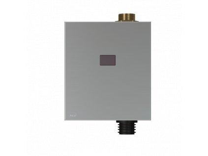ALCA PLAST Automatický splachovač WC, kov, 12 V (napájení ze sítě) ASP3-K
