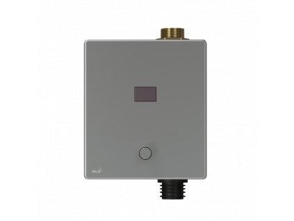 ALCA PLAST Automatický splachovač WC s manuálním ovládáním, kov, 12 V (napájení ze sítě) ASP3-KT