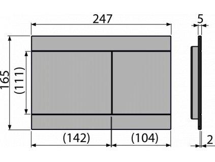 ALCA PLAST Ovládací tlačítko pro předstěnové instalační systémy, mosaz FUN-BRASS