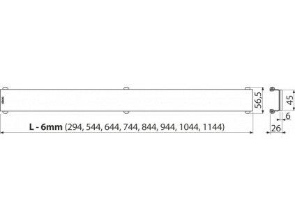 ALCA PLAST GLASS – Rošt pro liniový podlahový žlab, sklo-černá GL1204-550