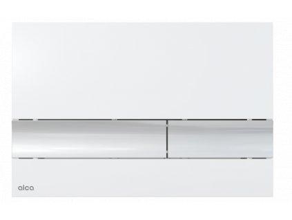 ALCA PLAST Ovládací tlačítko pro předstěnové instalační systémy, bílá-lesk/chrom-lesk M1720-1
