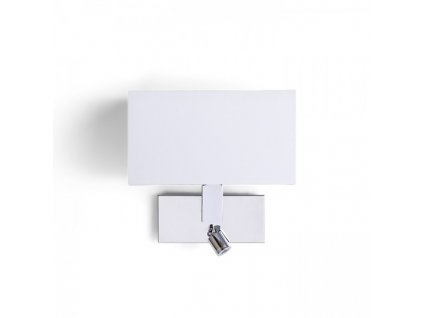 RENDL PLAZA nástěnná s LED bodovkou bílá chrom 230V E27 LED 42+3W 3000K R11982