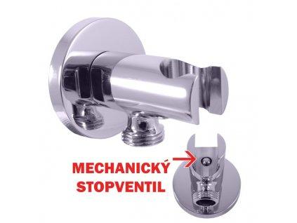 RAV Slezák Držák sprchy s integrovaným STOP ventilem chrom/kov MD0750