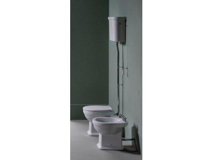 CLASSIC WC mísa s nádržkou, spodní odpad, bílá-chrom