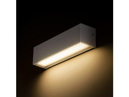 RENDL CAMARGUE nástěnná stříbrnošedá satinované sklo 230V LED 6W IP65 3000K R13527
