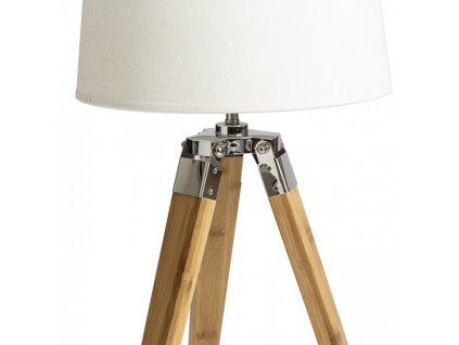 RENDL ALVIS stolní podstavec bambus/chrom 230V E27 28W R13339