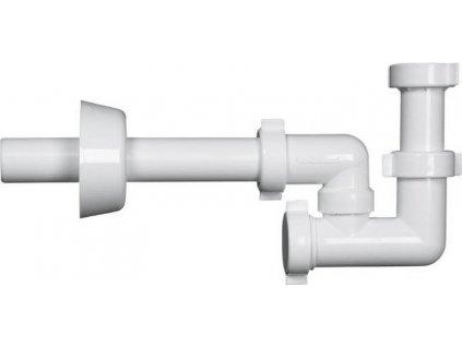BAZOOKA bidetový sifon 1'1/4, odpad 32mm, bílá