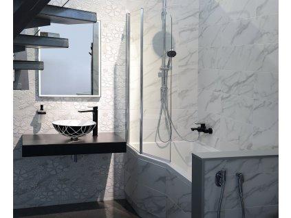 PALOMA vanová zástěna 900mm, čiré sklo