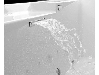 CUT napouštěcí štěrbina 170x24mm, chrom