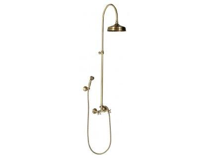 ANTEA sprchový sloup k napojení na baterii, hlavová, ruční sprcha, bronz