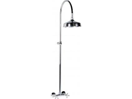 ANTEA sprchový sloup k napojení na baterii, hlavová sprcha, chrom