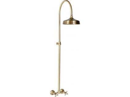 ANTEA sprchový sloup k napojení na baterii, hlavová sprcha, bronz