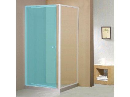 AMICO boční stěna, sklo, pevná část, 900 mm