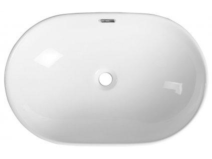 LIMA keramické umyvadlo 59,5x17,5x39,5 cm, polozápustné