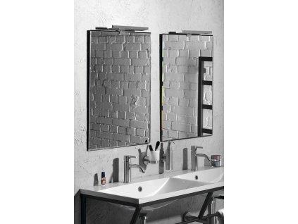 ACCORD zrcadlo s fazetou 500x700mm, zakulacené rohy, bez úchytu