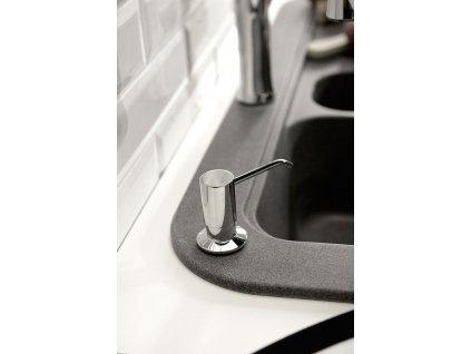 Zápustný dávkovač mýdla, retro, bronz