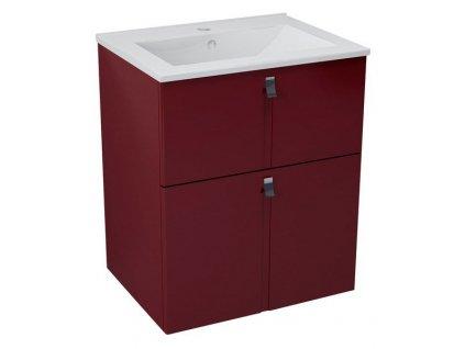 MITRA umyvadlová skříňka 59,5x70x45,2 cm,bordó