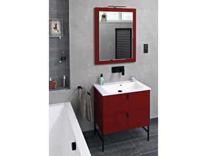 MITRA umyvadlová skříňka 74,5x55x45,2 cm, bordó
