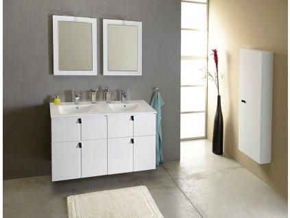 MITRA dvojumyvadlová skříňka 121,5x55x46 cm, bílá