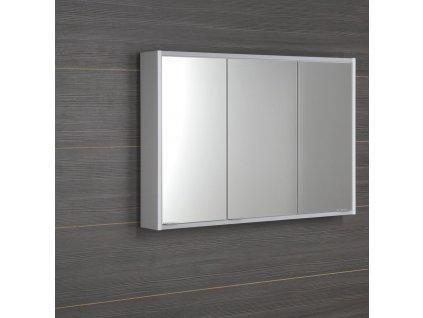 BATU galerka 100x71x15 cm, 2x LED osvětlení, bílá