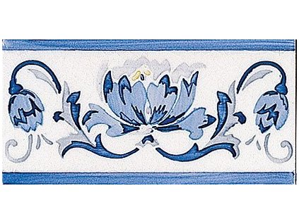 MODERNISTA Cenefa Benidoleig PB Azul C/C B 7,5x15 (ADP39)