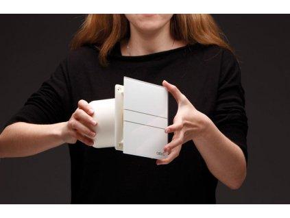 E-100 GS koupelnový ventilátor axiální, 8W, potrubí 100mm, stříbrná