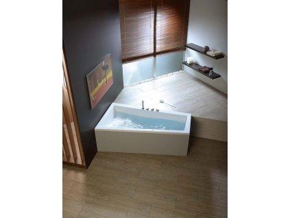 ANDRA R asymetrická vana 180x90x45cm, bílá