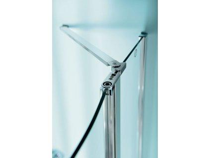 ZOOM LINE čtvrtkruhová sprchová zástěna 900x900mm, čiré sklo, levá