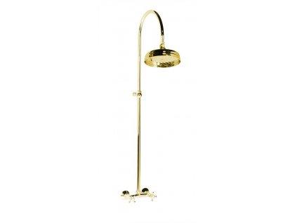 ANTEA sprchový sloup k napojení na baterii, hlavová sprcha, zlato
