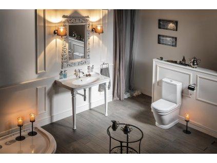 ANTIK WC kombi, spodní/zadní odpad, bílá