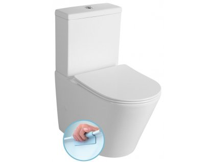 PACO WC kombi Rimless + Slim Soft Close sedátko, spodní/zadní odpad, bílá
