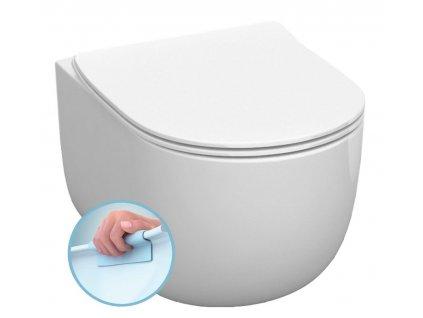 FLO závěsná WC mísa, Rimless, 37x54 cm, bílá