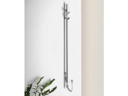 PASADOR elektrický sušák ručníků s časovačem, kulatý, 150x1500 mm, 30 W, nerez