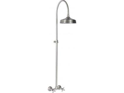 ANTEA sprchový sloup k napojení na baterii, hlavová sprcha, nikl