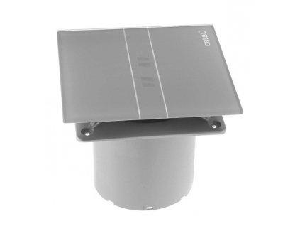 E-100 GBTH koupelnový ventilátor axiální s automatem,4W/8W,potrubí 100mm,černá