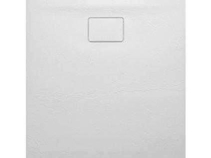 ACORA vanička z litého mramoru, čtverec 90x90x3,5cm, bílá, dekor kámen