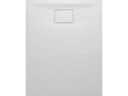 ACORA vanička z litého mramoru, obdélník 100x80x3,5cm, bílá, dekor kámen