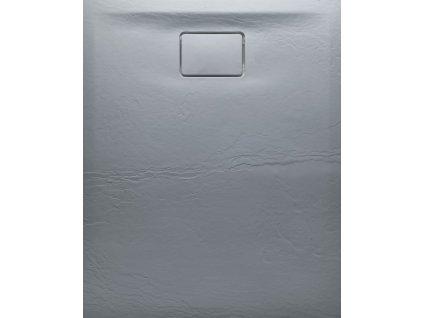 ACORA vanička z litého mramoru, obdélník 120x80x3,5cm, šedá, dekor kámen