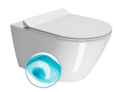 KUBE X závěsná WC mísa, Swirlflush, 55x36 cm, bílá ExtraGlaze