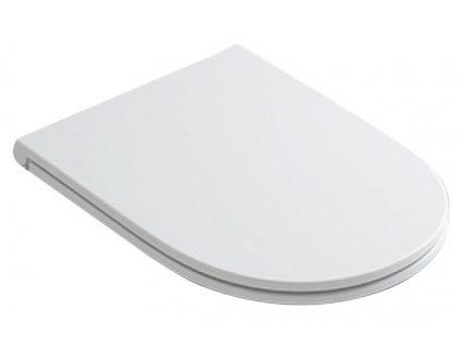 AQUATECH WC sedátko SLIM Soft Close, termoplast, bílá/chrom